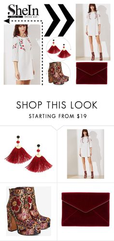 """""""Sans titre #421"""" by missbijou ❤ liked on Polyvore featuring Shashi, Shellys, Rebecca Minkoff, contest, Sheinside, contestentry and shein"""