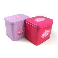 Lovely square gift metal tin in 3-piece structure with a outward curl solid lids is one of the hotsale tin boxes of our range of tin boxes. It can be a good packing for candy, chocolate, tea and so on. It is a kind of public tin in the market.