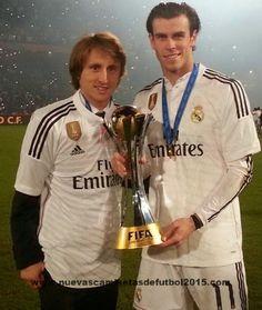 Real Madrid Mundial de Campeones Camiseta - Clubes campeones del mundo Camiseta con insignia 2014-2015
