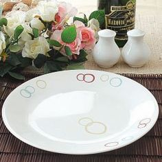 White appeal! Bring home this #white colored dinner #plate that will surely upgrade your #crockery.