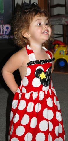 Custom Boutique Disney Minnie Mouse Halter Dress 12 by amacim, $29.99