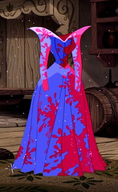 Pink and blue dress from Sleeping Beauty