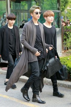 Rap Monster, Jungkook and Suga ❤ BTS Arrival at KBS Music Bank (Comeback stage today) #BTS #방탄소년단
