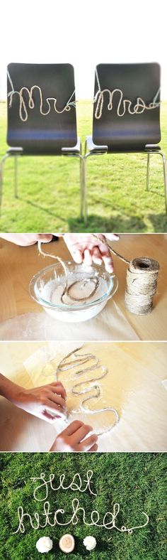 could make words with string and glue like this for home deco too.