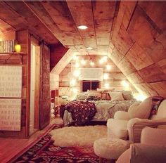 It looks so homy. And snugly. Great place for a bunch of girls so hang out together.