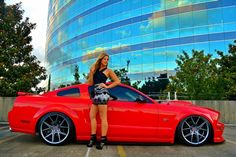 View 2006 Ford Mustang Gt Torch Red Babe Of The Month Olivia Hart - Photo 119458439 from Babe of the Month: Olivia Hart Ford Mustang Gt, 2006 Ford Mustang, Mustang Girl, Mustang Cobra, Mustang Fastback, Sexy Cars, Hot Cars, Up Auto, Dreams