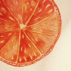 orange detail in watercolor