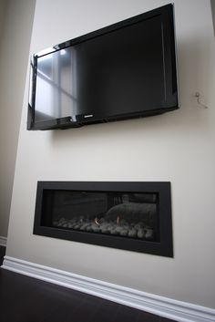 TV and Linear Fireplace | Flickr - Photo Sharing!