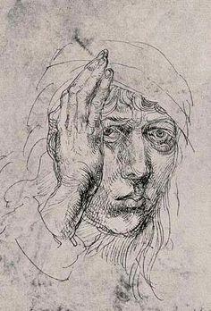 Albrecht Duerer (1471-1528 (self portrait at 20)