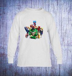 Lego Marvel Movie  Lego Marvel t shirt Long Sleeve  by madoxshop