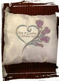 Wedding ring pillow (front) #craftninjas #wedding #rings #pillow #embroidery #beading #egypt