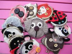 """Make a #crochet wallet animal for a little kid or that animal-lover in your life. Use googly eyes or sew on buttons to make your animal """"come to life""""."""