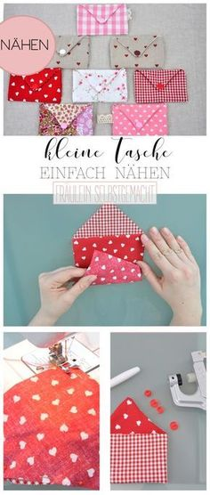 Sewing small bag - Sewing Pattern & Instructions you will find .- Kleine Tasche Nähen – Schnittmuster & Anleitung findet ihr hier Sewing small bag – pattern & instructions can be found here - Bag Patterns To Sew, Baby Knitting Patterns, Sewing Patterns Free, Free Sewing, Pattern Sewing, Bag Sewing, Sewing Projects For Beginners, Knitting For Beginners, Sewing Tutorials
