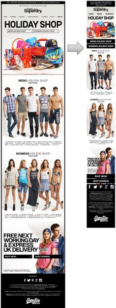Responsive Email Design from Superdry #ResponsiveEmailDesign