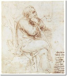 leonardo da vinci paintings | Leonardo Da Vinci Paintings and Drawings - Old Man Thinking 1510 ...