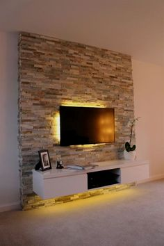 Most recent designs and graceful TV wall designs. Living room tv Unit Before flat-screen TVs, we hid our electronics in huge armoires. Now it seems everyone is finding new uses for those large pieces of furniture such as upcycling them as craft cabinets or mini offices…More Source: https://roomadness.com/2017/09/10/60-inspired-tv-wall-living-room-ideas/