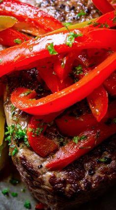 Skillet Pepper Steaks