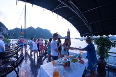 Party on the cruise in Halong Bay