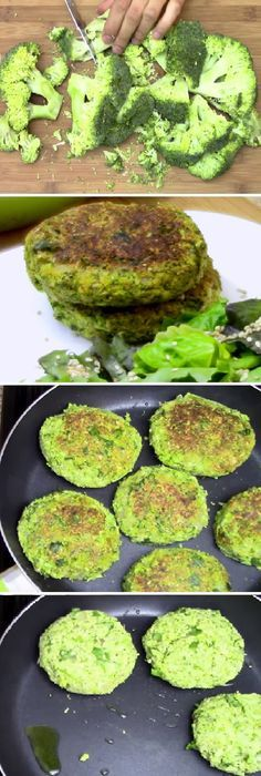 MEDALLONES DE BRÓCOLI SOBERANOS uno de los alimentos más saludables del mundo! #medallones #brocoli #saludable #vegan #vegano #delmundo #ensaladas #ensaladilla #salsa #comohacer #lamejor #lomejor #tips #pan #panfrances #panettone #panes #pantone #pan #receta #recipe #casero #torta #tartas #pastel #nestlecocina #bizcocho #bizcochuelo #tasty #cocina #chocolate Si te gusta dinos HOLA y dale a Me Gusta MIREN … Healthy Recepies, Vegan Lunch Recipes, Veggie Recipes, Healthy Cooking, Healthy Eating, Cooking Recipes, Bien Tasty, Healthy Habbits, Vegetarian Menu