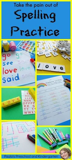 Paula's Preschool and Kindergarten: How to Take the Pain out of Spelling Practice