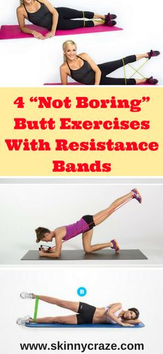 Are you tired of the same old butt exercises? Well, if that's a yes, then here are 4 butt exercises with resistance bands that will help to tone and firm up your booty. To perform these exercises you will need a resistance band that you can get cheaply at your local health store or Amazon. These butt exercises with resistance bands will start to pump and grow your booty! Now let's get started.