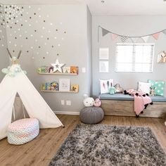 """4,091 Likes, 54 Comments - Project Nursery (@projectnursery) on Instagram: """"We are ALWAYS on the hunt for an adorable, functional and FUN playroom. ✔️, ✔️ and ✔️LINK IN…"""""""