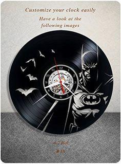 Batman vinyl clock, vinyl wall clock, vinyl record clock,...