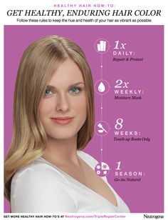 Get Healthy, Enduring Hair Color, styled beautifully in this hue-healthy how-to from Neutrogena®