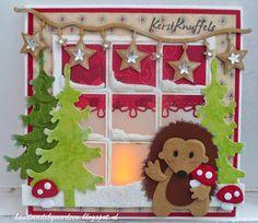 Handmade by Marleen; kerst egeltje