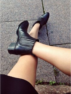 Ingrid Holm is wearing a boots from Camilla Pihl for Bianco