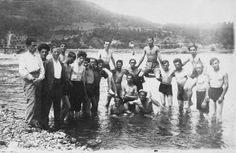"""Members of the """"Beitar"""" pioneering training battalion in Nadwórna, 8 July 1931. In October 1941, the Germans and Ukrainian police murdered over 2,000 Jews from Nadwórna in an aktion in a nearby forest. In April 1942, the remaining Jews of the city were enclosed in two ghettos – to which more Jews were brought from the surrounding villages. In October and November 1942, the last Jews of Nadwórna were murdered, and the community ceased to exist"""