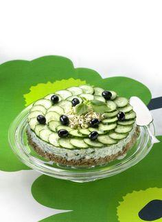 Tsatsikitorttu Culinary Arts, Cooking Recipes, Cake, Desserts, Food, Tailgate Desserts, Deserts, Food Cakes, Eten