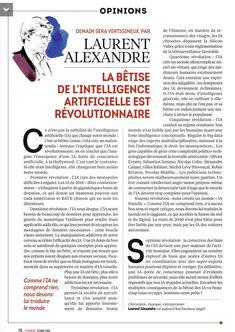 """Laurent Alexandre sur Twitter : """"La bêtise de l'Intelligence Artificielle est révolutionnaire !… """""""