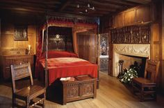 The Waldegrave Room at Hever Castle, Kent, England, UK. The Catholic Waldegrave family owned Hever Castle from 1557 until 1715. In 1584 the Oratory was added to this room, hidden behind panelling so Sir Edward could practice his faith in secret. Henry Waldegrave married an illegitimate daughter of King James II. When James fled to France in 1688, Henry followed him in support of the Jacobite Cause.