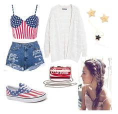 """""""4th of July #3"""" by hipsterannie ❤ liked on Polyvore featuring Violeta by Mango, Vans and Rebecca Minkoff"""