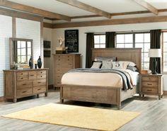 Brownstone Village Casual Oak Master Bedroom Set
