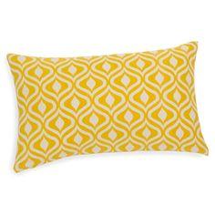 Housse de coussin en coton jaune ocre 30 x 50 cm MANICATA