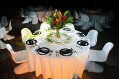 Our white panton chairs are also available to hire in black and red