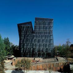 Alejandro Aravena: Siamese Towers, 2005, San Joaquín Campus, Universidad Católica de Chile, Santiago, Chile