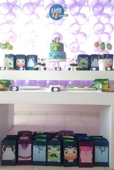 Dessert table at a Miles from Tomorrowland birthday party! See more party planning ideas at CatchMyParty.com!