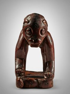 Yaka Zoomorphic Neckrest, Democratic Republic of the Congo | Sculpture from the Collection of Martin and Faith-Dorian Wright2021 | Sotheby's Printing Labels, Museum Of Modern Art, Republic Of The Congo, Lion Sculpture, Auction, African, Faith, Statue, Prints