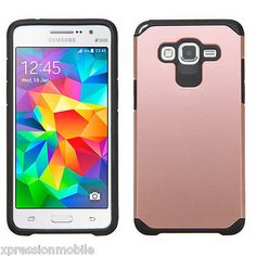 For Samsung GALAXY CORE PRIME Slim Hybrid Rubber ShockProof Case Cover ROSE GOLD