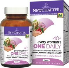 Every Woman One Daily 40 Plus is new from New Chpater whole-food complexed multi-vitamin is formulated specifically for your needs.