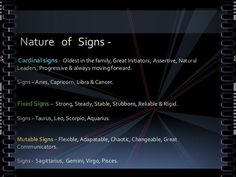 Nature of Signs - Astrological Houses - Why they don't like you...?