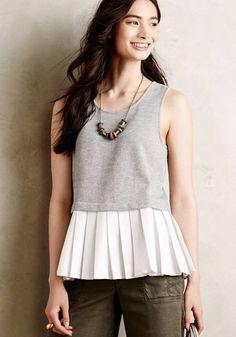 Teresa Peplum Top   | super cute top. Want this.