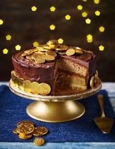 No Bake Desserts, Delicious Desserts, Dessert Recipes, Shortbread Cake, Almond Butter Cookies, New Year's Cake, Best Cake Recipes, Chocolate Recipes, Chocolate Coins