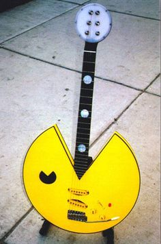 awesome custom guitar pacman