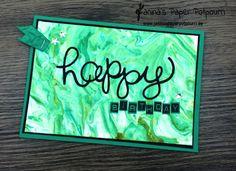 jpp - grüne Rasierschaum Geburtstagskarte