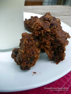 Double Chocolate Oatmeal Zucchini Cookies ~ Sumptuous Spoonfuls
