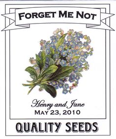 Forget Me Not Wedding Seed Packet